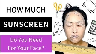 How Much Sunscreen Do You Need For Your Face? Lab Muffin Beauty Science