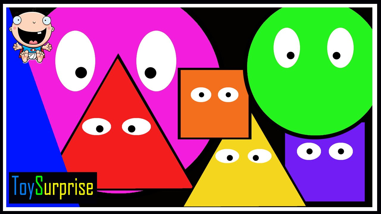 Figuras Geométricas Para Niños Colores Formas Y Figuras Círculo Cuadrado Y Triángulo