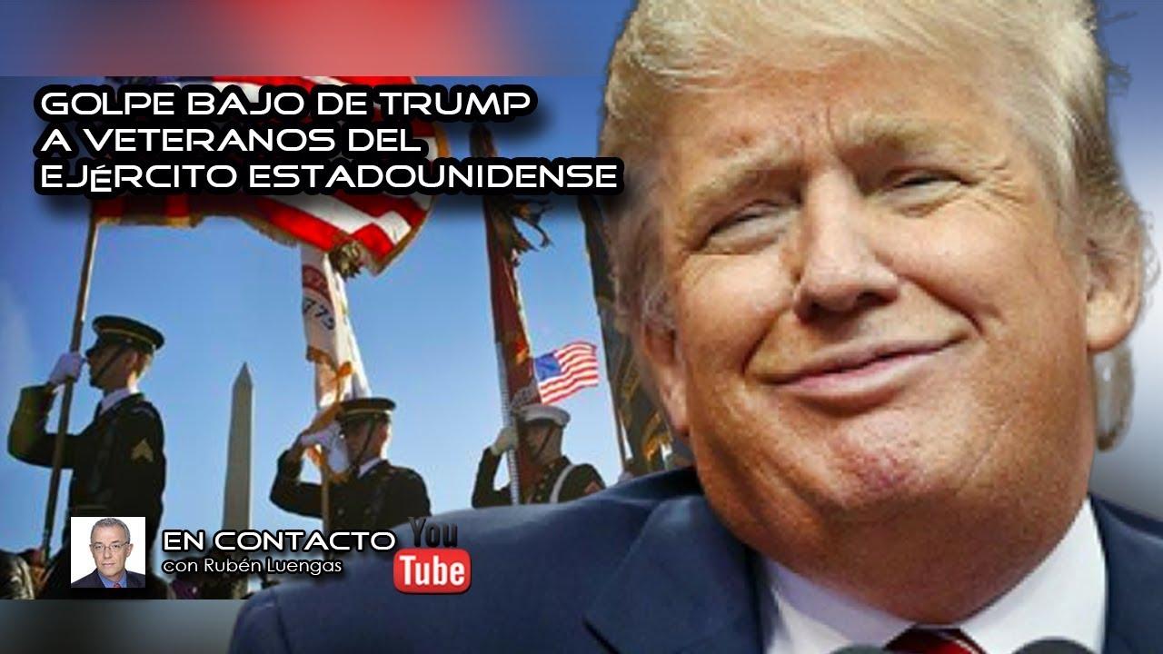 Ver Golpe bajo de Trump a los veteranos del ejército estadounidense | #ENVIVO en Español