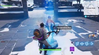 Fortnite Season 7 Battle Pass Week 1 Celebration W MrAlanC + Snowy Peaks Sword