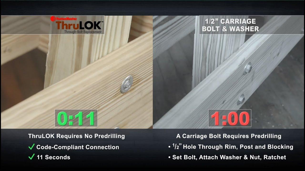 ThruLOK Through Bolt Replacement Multi-Ply Beam Fastener