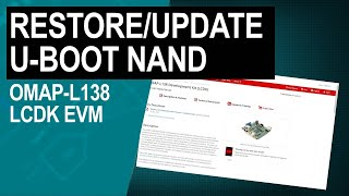 Restoring and Updating U-Boot NAND on OMAP-L138