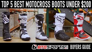 Top 5 Best Motocross Boots Under $200 | BTO Sports Buyers Guide