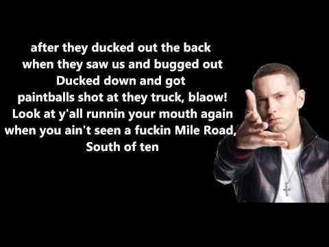 Eminem - Marshall Mathers // Lyrics On Screen [HD]
