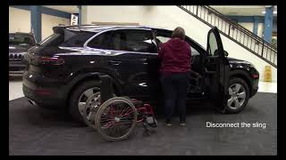 How to Lift a Handicapped Person from a Wheelchair to an SUV