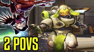 HOW TO RANK UP IN OVERWATCH: 2 POVS - 1 GAME