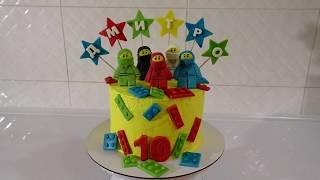 Кремовый торт с мастичным декором Торт НИНДЗЯГО для ребенка своими руками