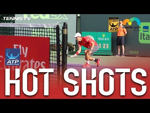 Hot Shot: Nishikori Cuts Delicate Dropper At Miami 2017