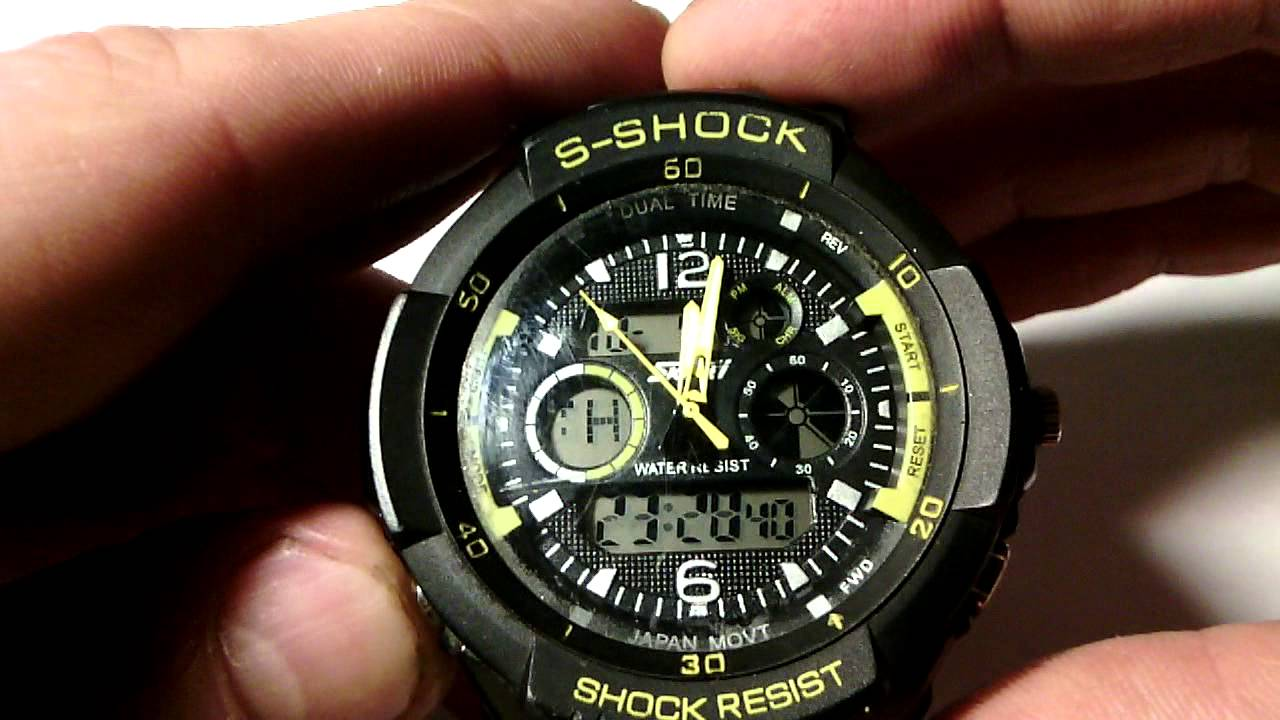 Unboxing #1 Watch S SHOCK SKMEI From Aliexpress - YouTube