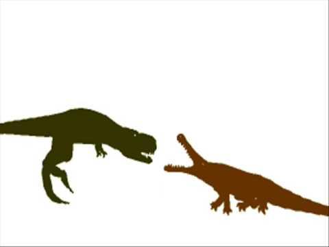 PDFC - Tyrannosaurus vs Sarcosuchus - YouTube