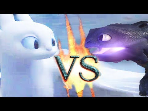 Light Fury VS Night Fury, Most Epic Battle | How to Train Your Dragon