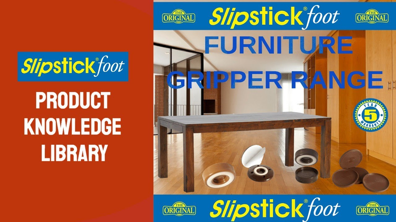 Slipstick Furniture Grippers Stop Furniture From Moving On Hard Floor  Surfaces
