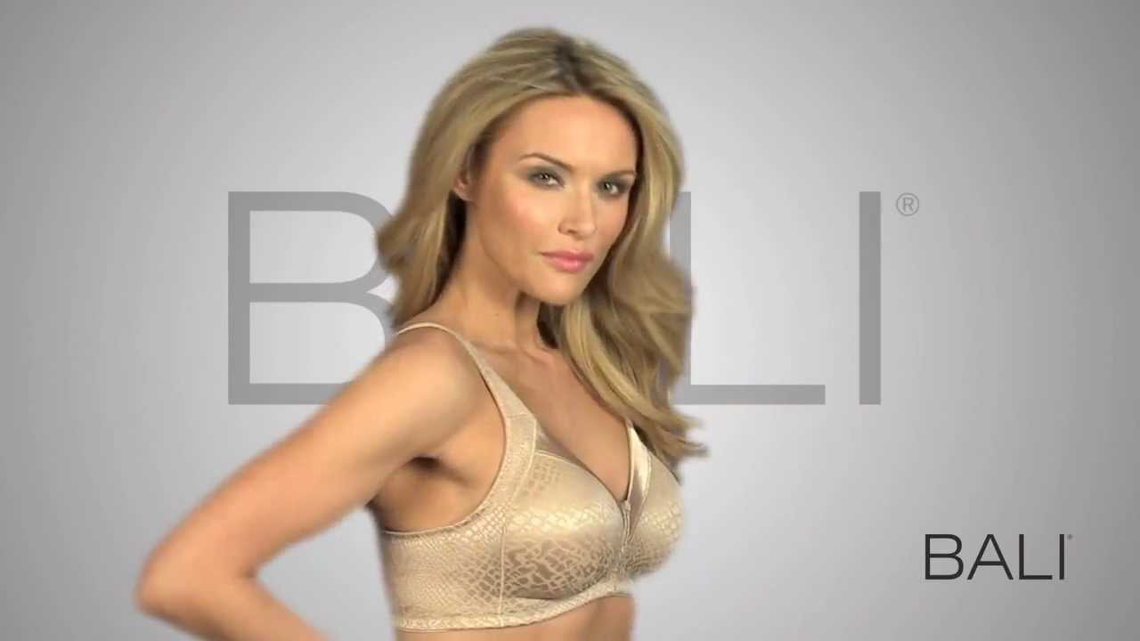 Bali® Double Support® Minimizer Wirefree Bra 3335 - YouTube