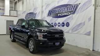 2018 Ford F-150 SuperCrew Lariat Sport 502A W/ 3.0L Power Stroke Overview | Boundary Ford