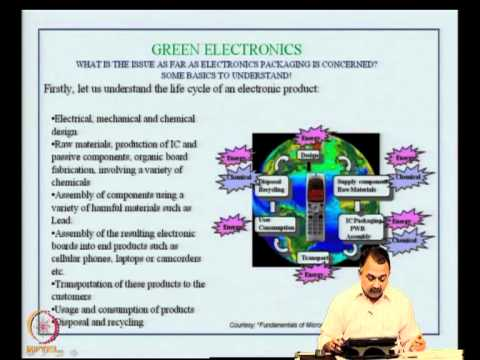 Mod-07 Lec-38 Lead-free solder considerations,green electronics,RoHS compli & e-waste recycling iss