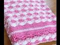 Shell stitch - shell blanket - shell - crochet English