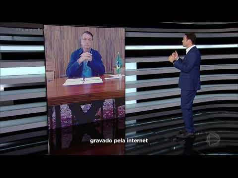 Presidente Jair Bolsonaro fala sobre o coronavírus em entrevista ao Domingo Espetacular