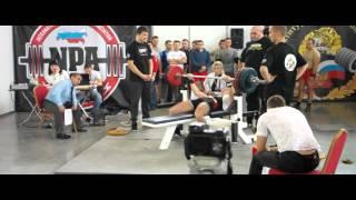Илья Бабин вес 75 кг, смог «выжать» 175 кг. (фестиваль «Золотой Тигр — VII»)