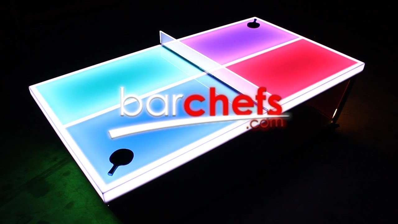 BarChefs LED Ping Pong Table