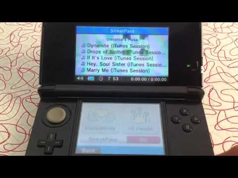 Music Street Pass on the 3DS