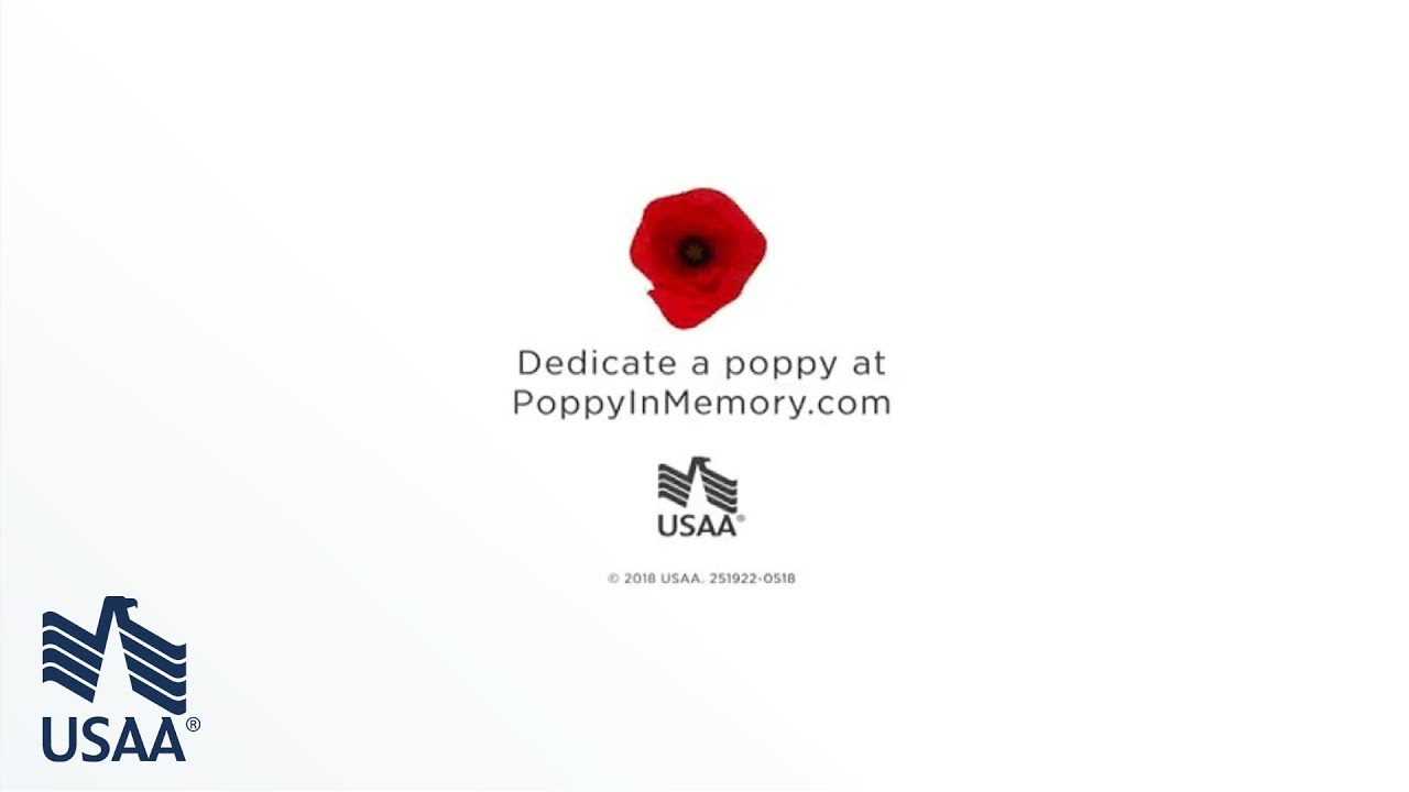Memorial Day 2018 Poppy In Memory 360 Video Usaa Youtube