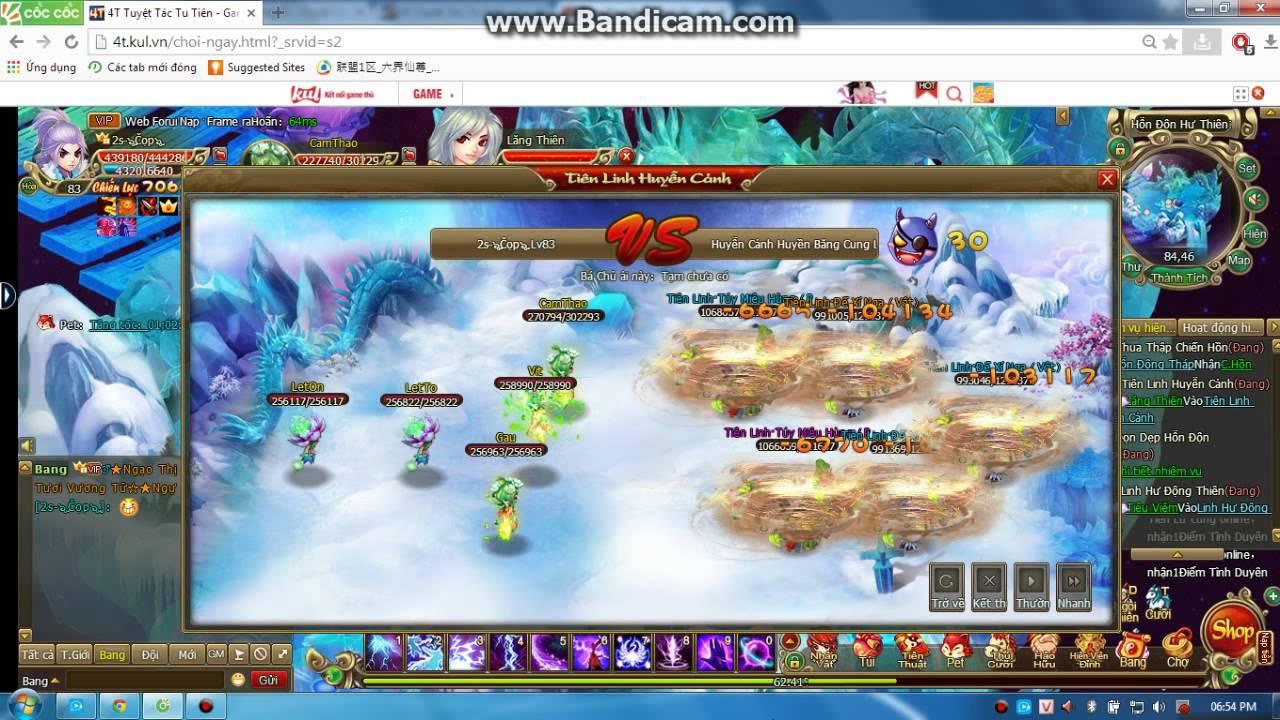 Sự lợi hại của Huyền Băng Cung- Game 4T - Tuyệt Tác Tu Tiên