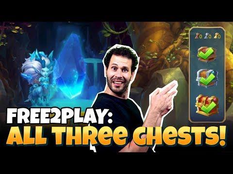 F2P Treasure Mining... ALL 3 Chests!