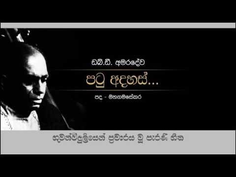 Patu Adahas, W D Amaradewa, Old Radio Songs
