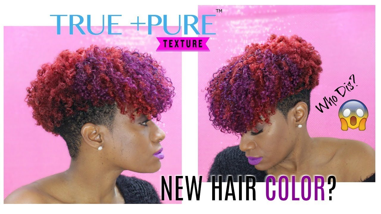 New Hair Color W Clip Ins Tapered Cut Natural Hair