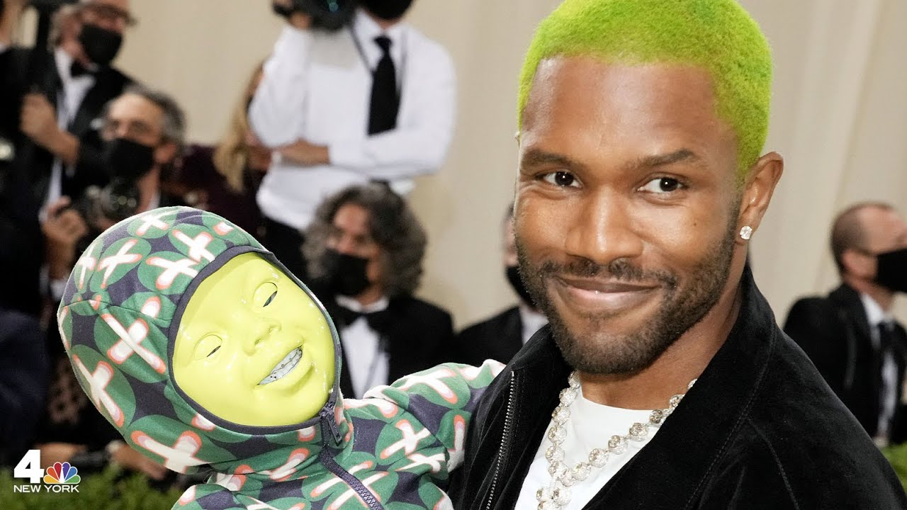 Frank Ocean and His Green Baby at the Met Gala 2021 ...