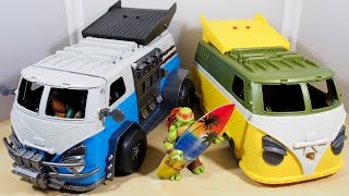 TMNT 2015 Party Wagon Custom and REVIEW
