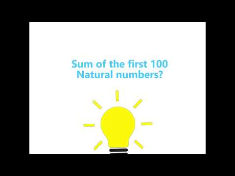 Sum of First 100 Natural Numbers