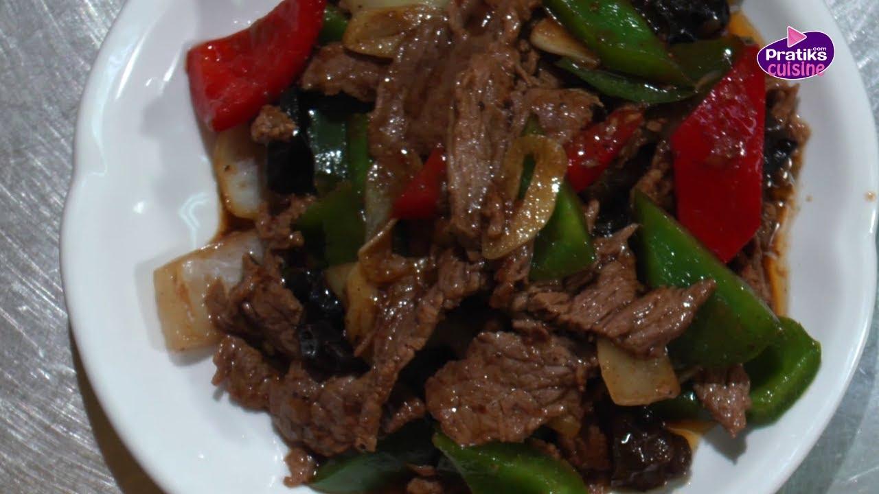 Cuisine Chinoise  Comment cuisiner un buf Saut au poivre noir  YouTube