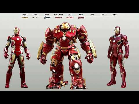 All IRON MAN Suits in the MCU (2008 - 2018) WITH  bleeding edge armor avengers infinity war 2018