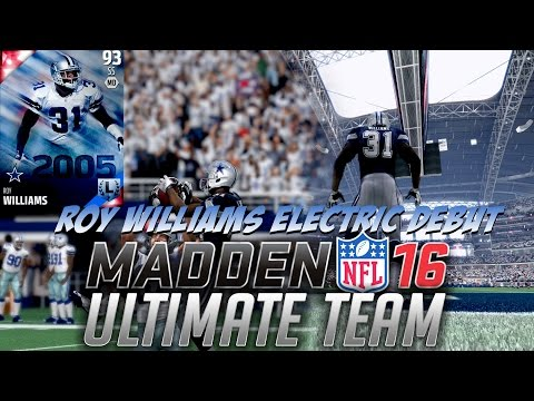 ROY WILLIAMS ELECTRIFIES AND EXCITES IN HIS DEBUT! HARD HITTING SAFETY! - MADDEN 16 ULTIMATE TEAM #6