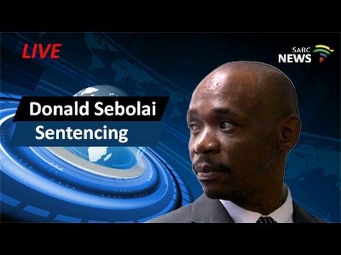 Sentencing of former DJ Donald Sebolai