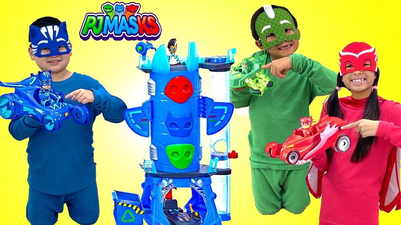 Wendy Lyndon & Eric Play Kids Superhero Dress Up Adventure with Kids Toys | PJ Masks IRL