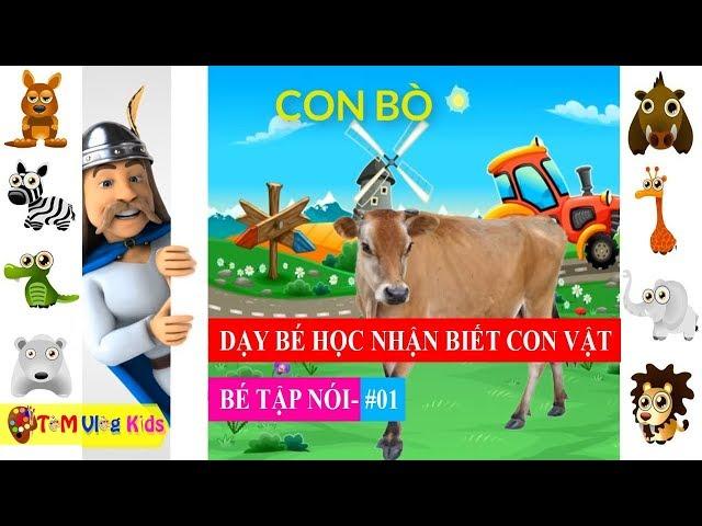 Dạy Bé Học Nhận Biết Con Vật - Bé Tập Nói / #01  TOM Vlog Kids