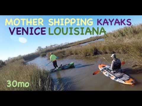 MOTHER-SHIPPING KAYAKS - TROUT & REDFISH IN THE MARSH - VENICE LOUISIANA