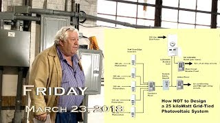 EVTV Friday Show - How NOT to Design a Grid Tied Solar Power System