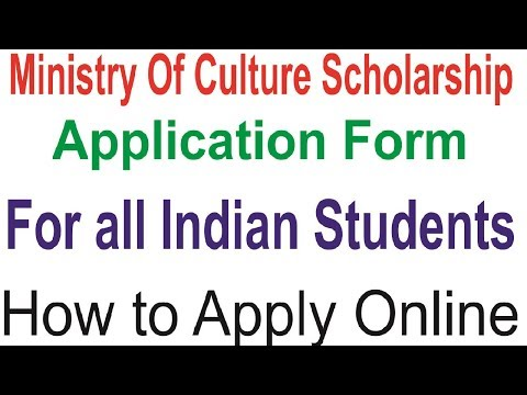 Ministry Of Culture Scholarship 2019 Online  Application Form