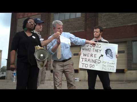 Raw footage: Justice for Jordan Miles Emergency Protest #2, Police HQ (1 of 2), 14 May 2011