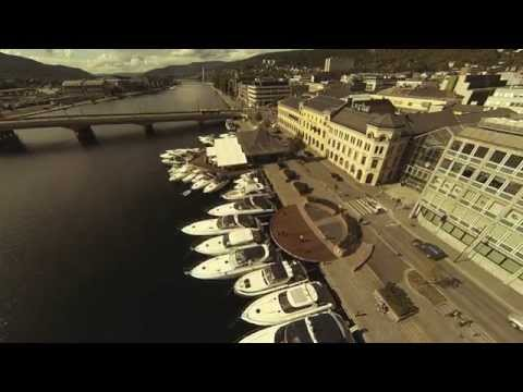 Boats in drammen city