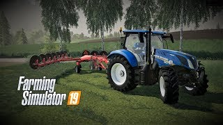 farming simulator 19 Europejski Rolnik odc38 Zgrabianie Siana