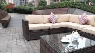 Sundale Outdoor rattan furniture installation video SKU(SOFA-06L)