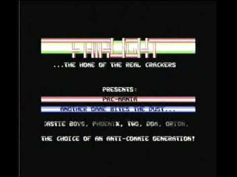 Fairlight cracktro Pacmania Commodore 64