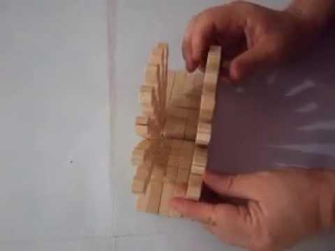 Como hacer un servilletero con ganchos de madera paso a - Hacer manualidades con madera ...