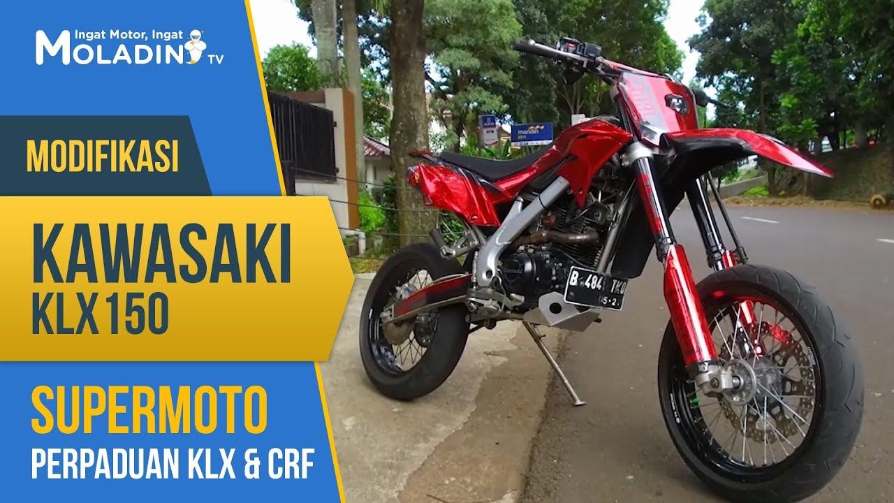 Modifikasi Kawasaki Klx 150 Supermoto Perpaduan Klx Crf Youtube