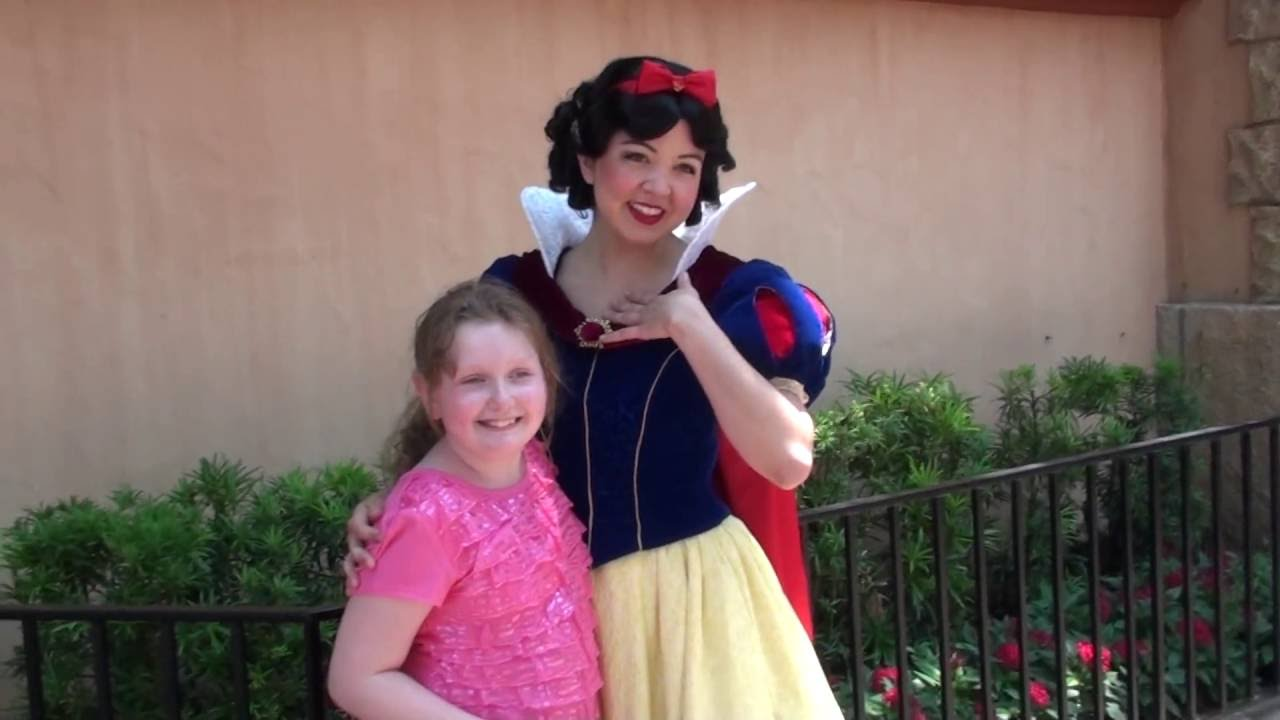 Disney World Meet Greet With Snow White May 2014 Funny Voice