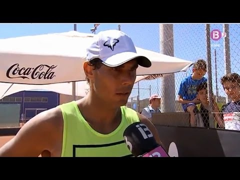 Rafael Nadal Practice and Interview in Manacor. 12 April 2017